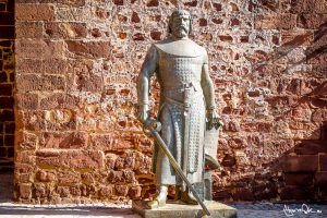 Statua al castello di Silves Portogallo Algarve