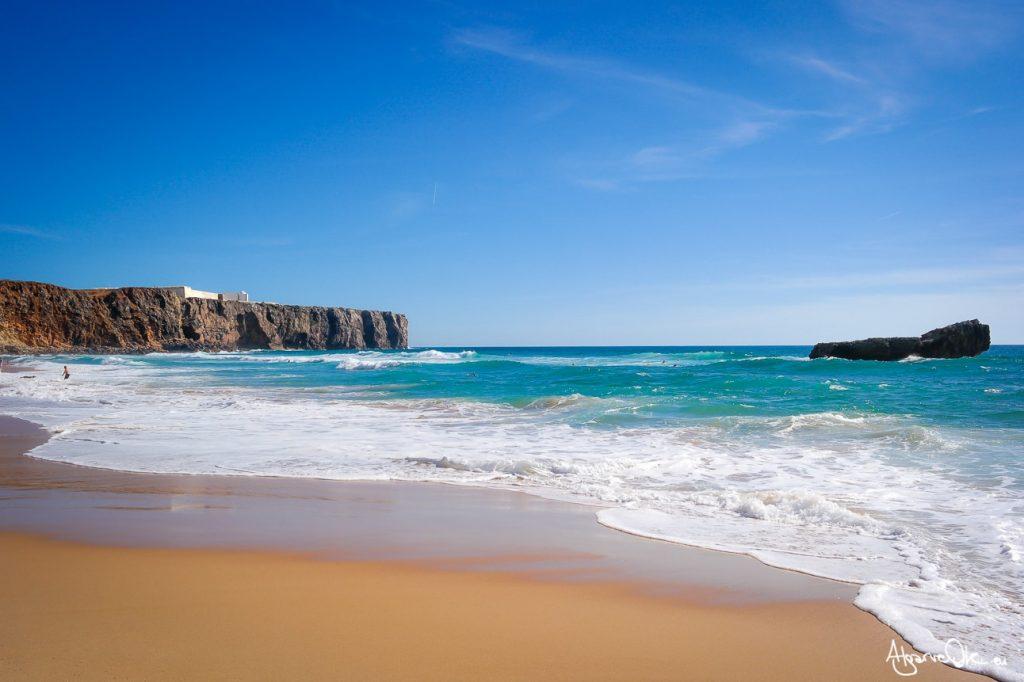 Spiaggia a Sagres in Algarve