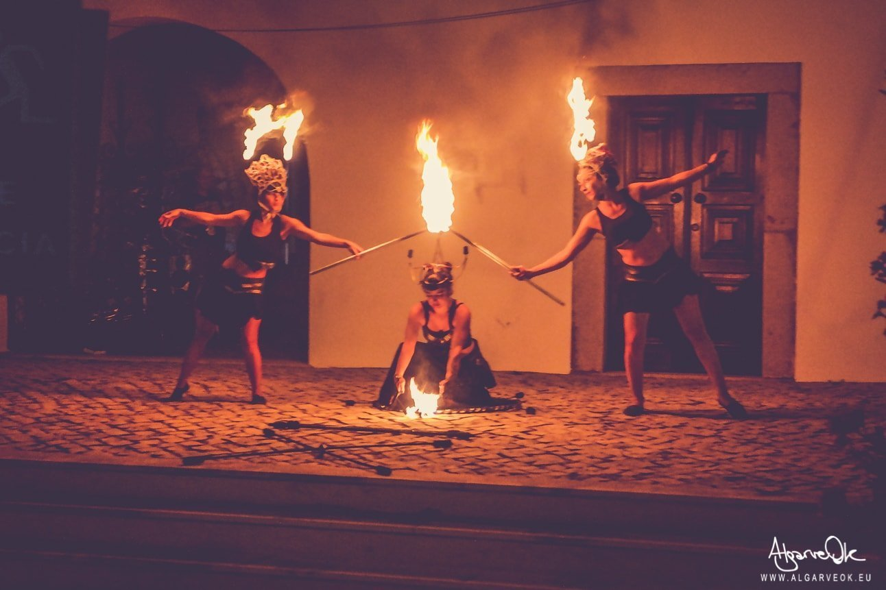Festival Medievale Algarve Salir spettacoli fuoco