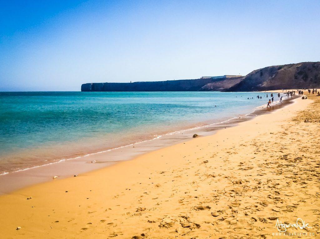 Fortaleza de Sagres Algarve Portogallo vista dalla spiaggia