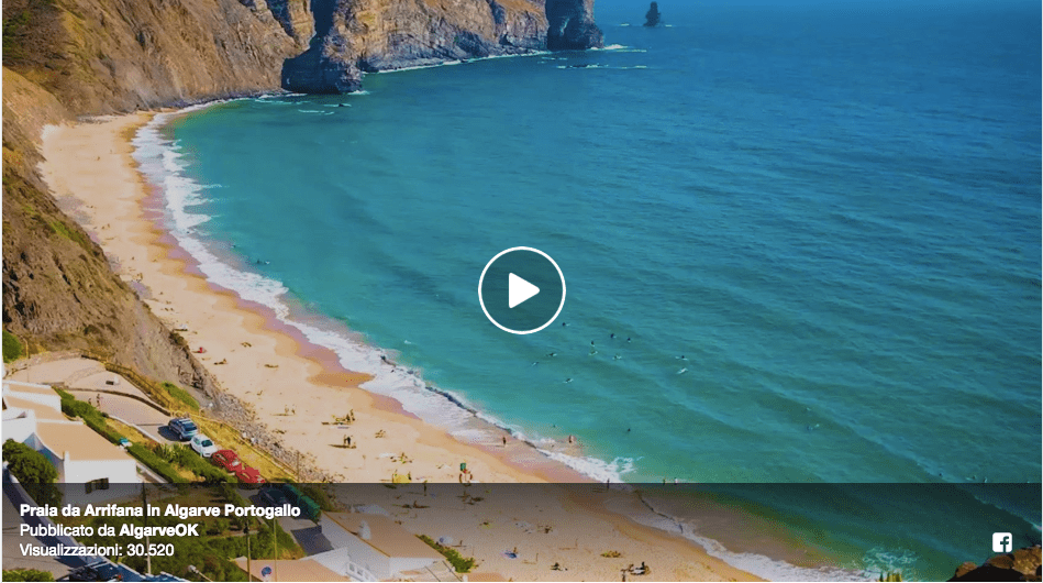 video praia da arrifana aljezur algarve portogallo