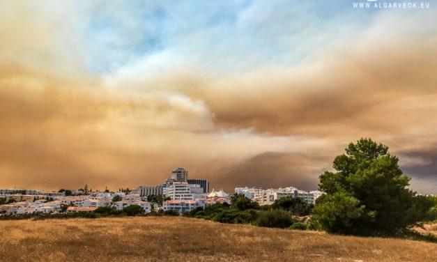 Foto incendio Portogallo Algarve da Albufeira e Silves