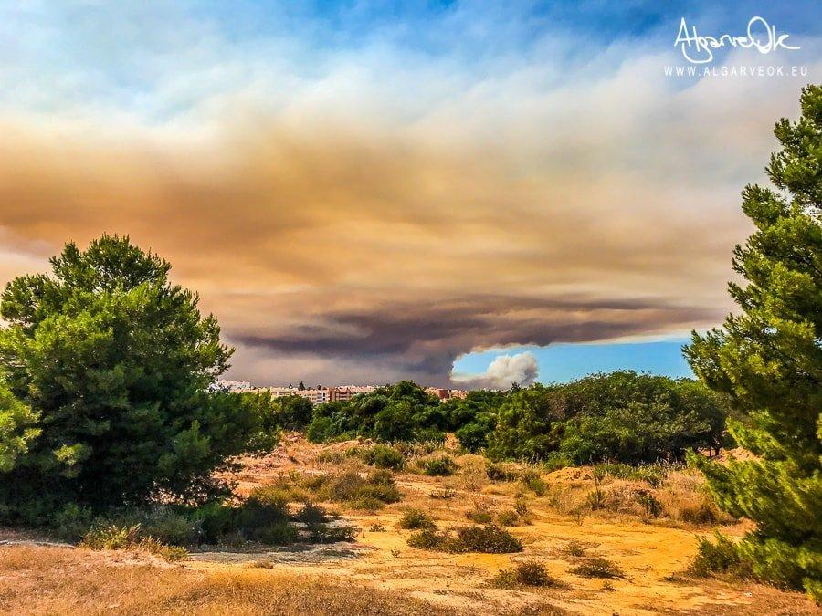Foto incendio Portogallo Algarve da Albufeira