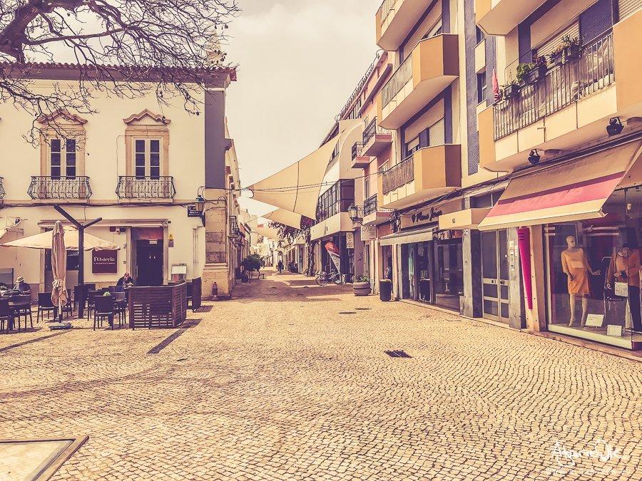 Faro Portogallo Algarve vie della città