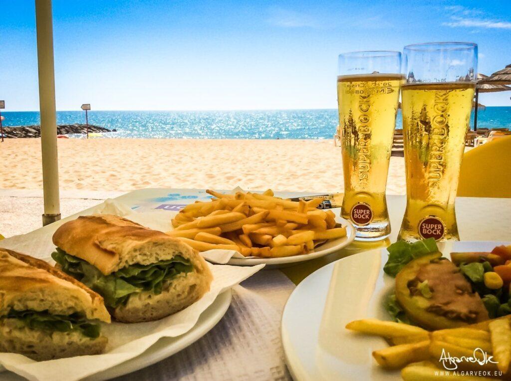 Costo vita Algarve Portogallo prezzi panini, toast e birra