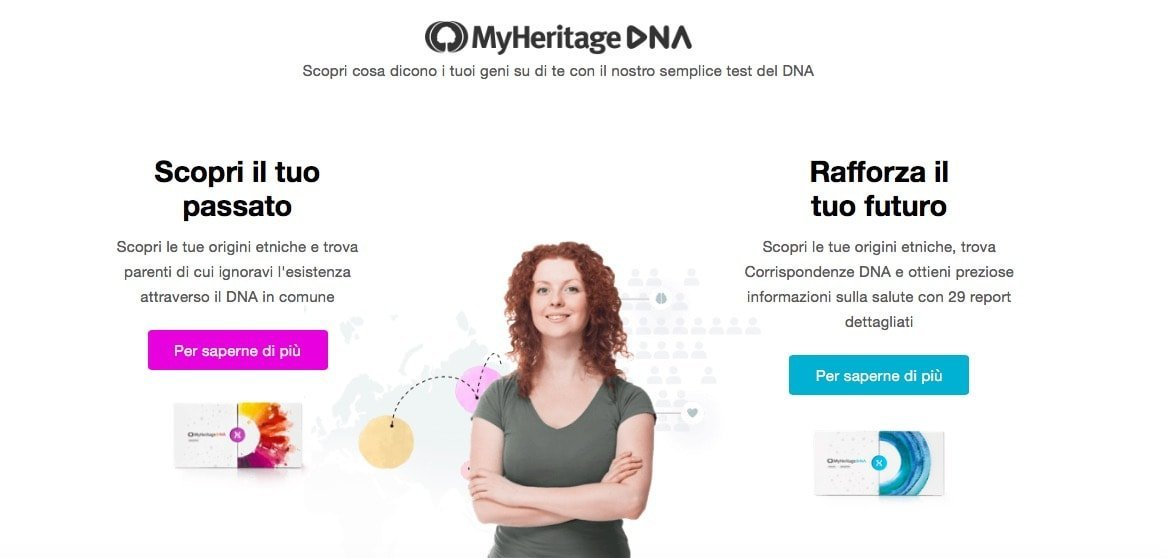 MyHeritage test DNA Salute